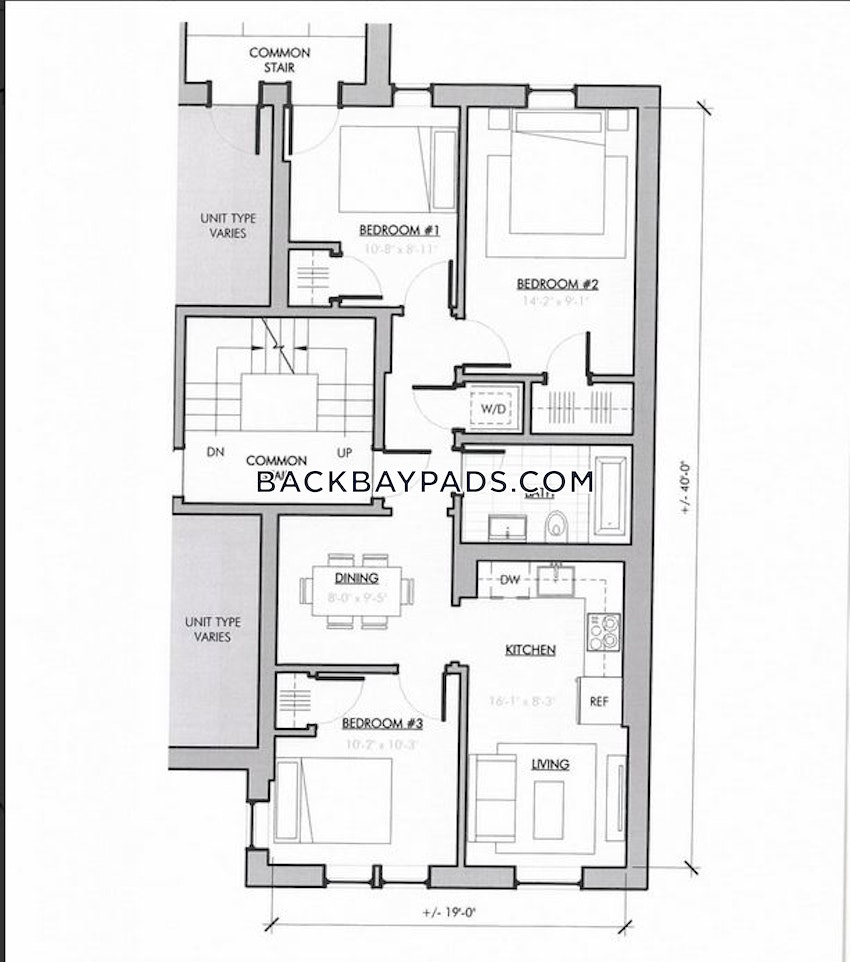 Back Bay Apartment For Rent 3 Bedrooms 1 Bath Boston 4 085