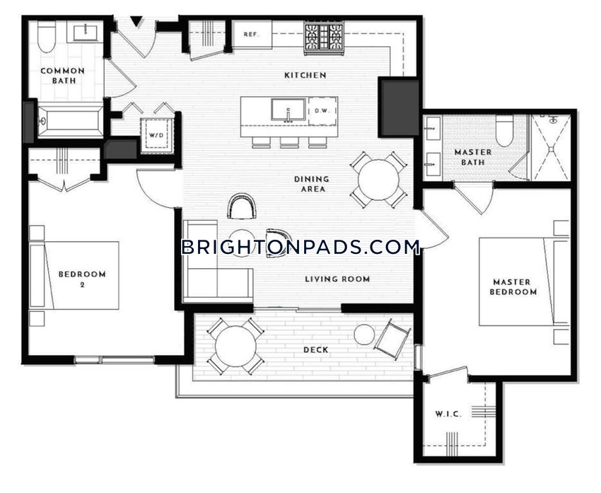 BOSTON - BRIGHTON - CLEVELAND CIRCLE - 2 Beds, 2 Baths - Image 19