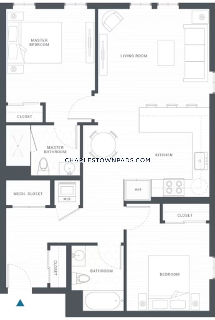 BOSTON - CHARLESTOWN - 2 Beds, 2 Baths - Image 11