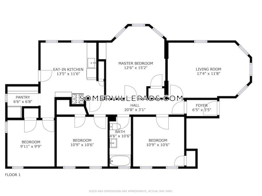SOMERVILLE - UNION SQUARE - 4 Beds, 1 Bath - Image 18